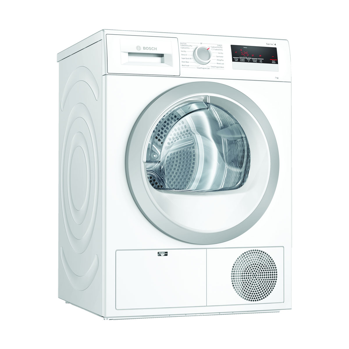 An image of Bosch WTN85201GB 7kg Condenser Tumble Dryer - White -B