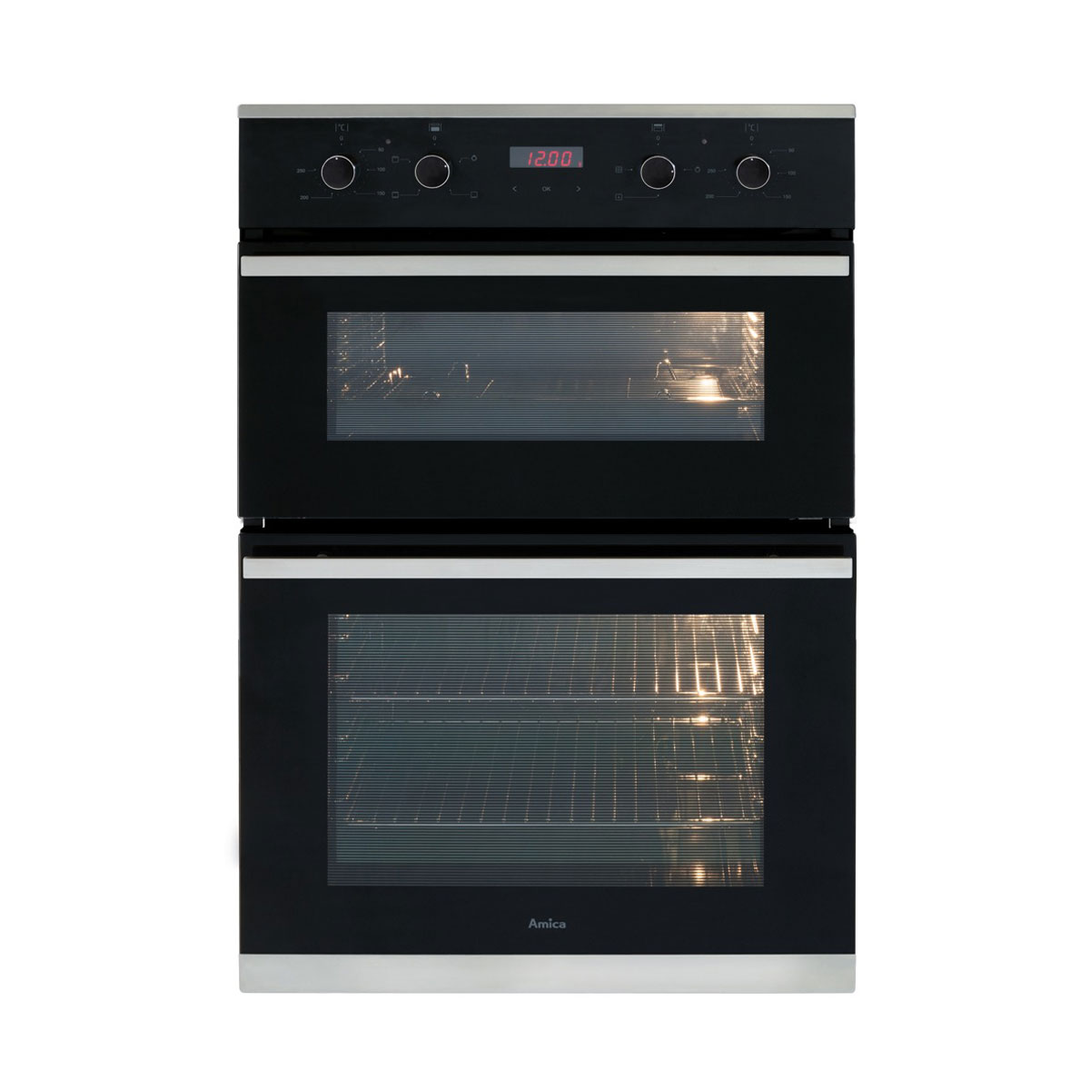 An image of Amica ADC900SS Built In Electric Double Oven - Stainless Steel - A rated