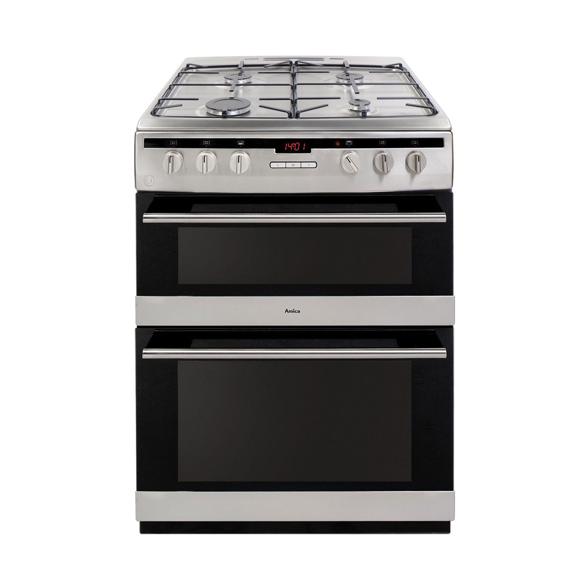 An image of Amica AFG6450SS 60cm Gas Cooker - Stainless steel - A