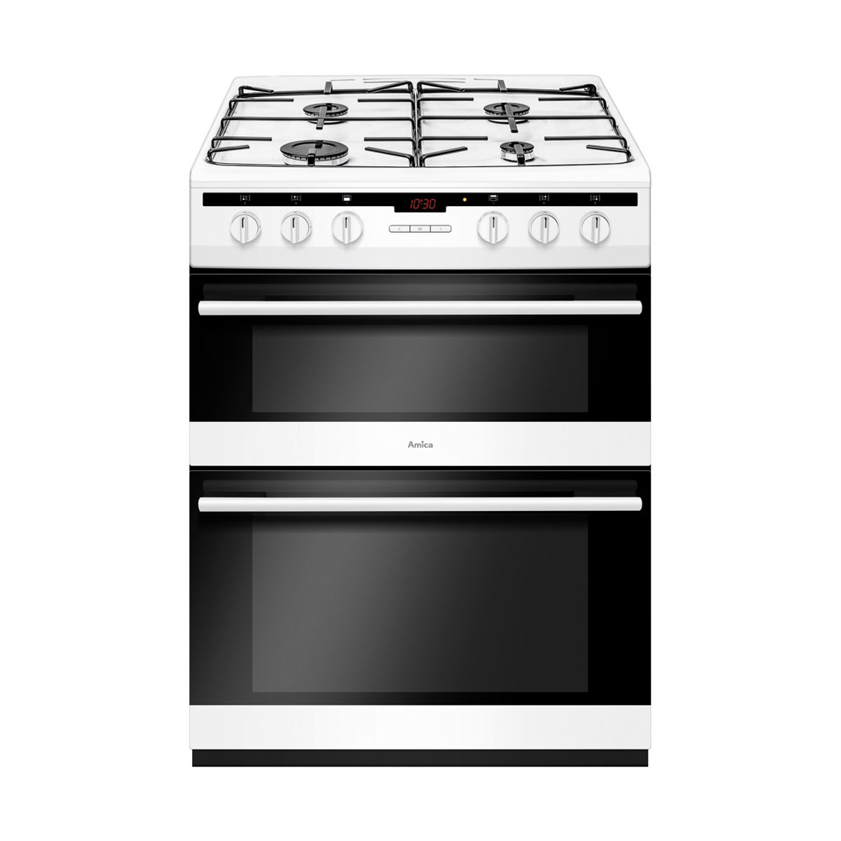 An image of Amica AFG6450WH 60cm Gas Cooker - White - A/A Rated