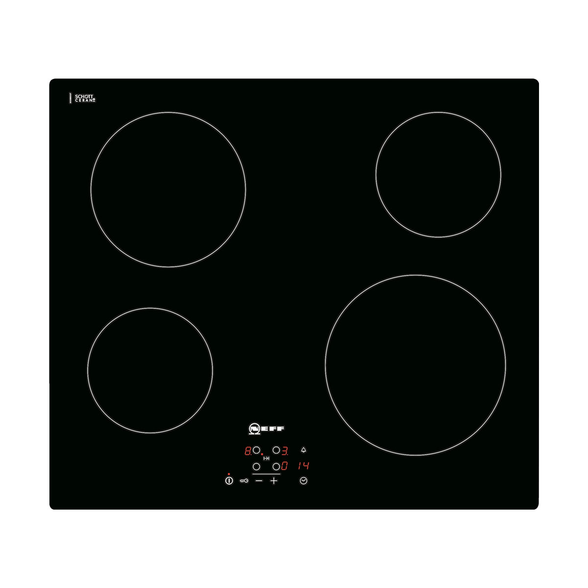 An image of Neff T10B40X2 60cm Ceramic Electric Hob - Black