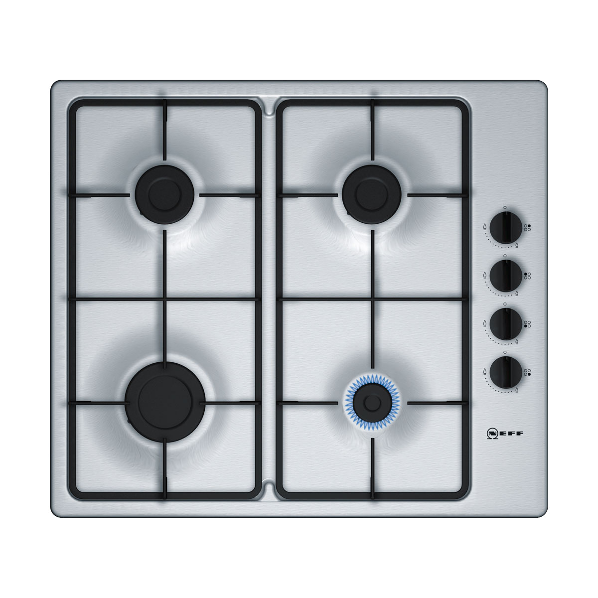 An image of Neff T26BR46N0 60cm 4 Burner Gas Hob - Stainless Steel