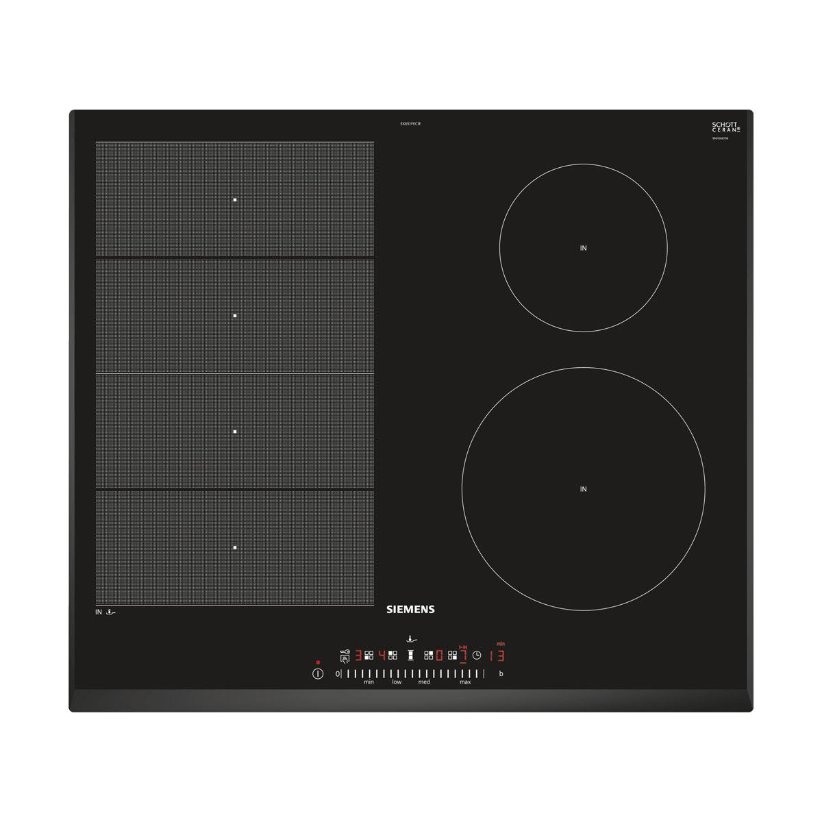 An image of Siemens EX651FEC1E 60cm Induction Hob - Black