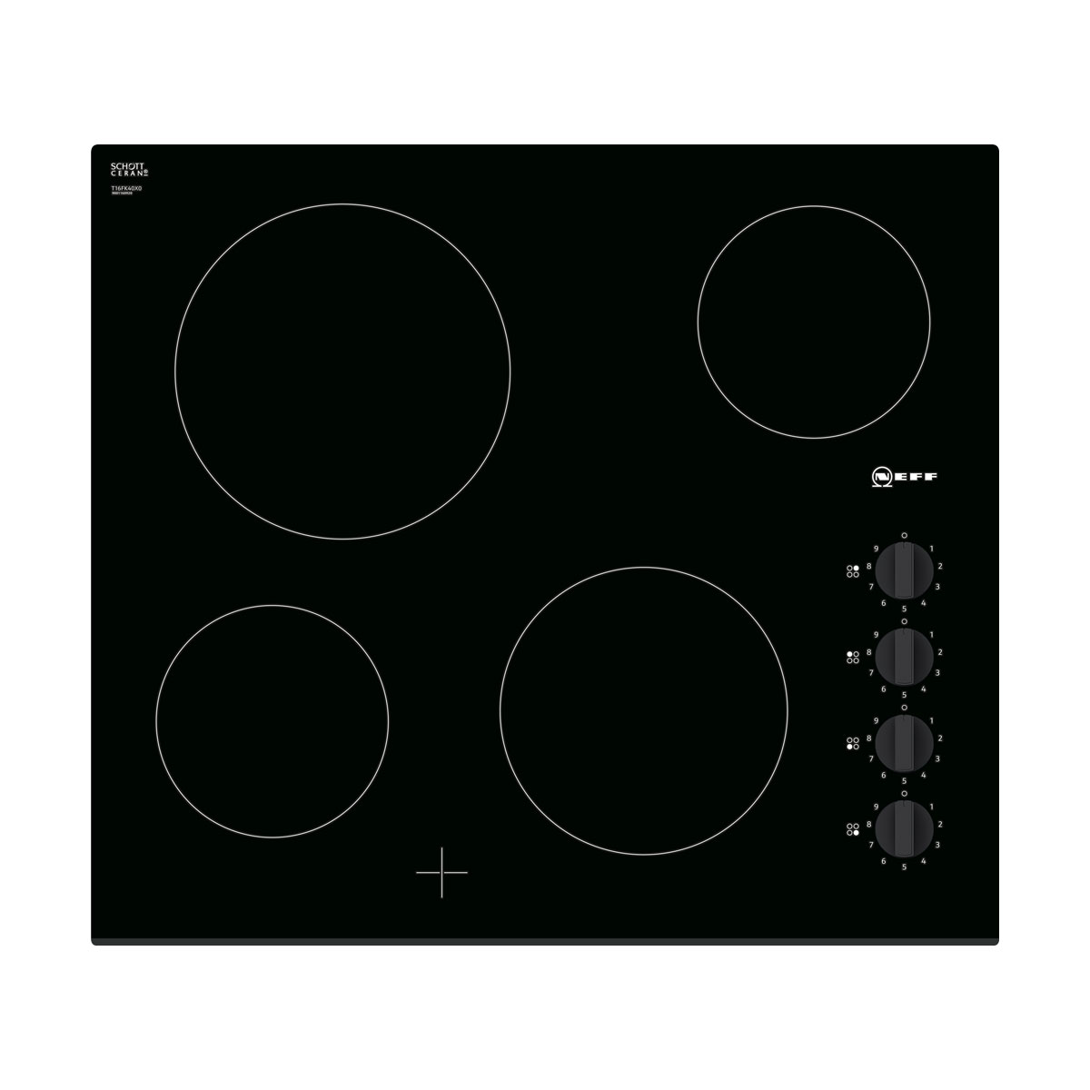 An image of Neff T16FK40X0 60cm Ceramic Electric Hob - Black