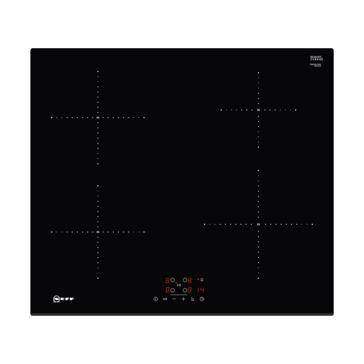 An image of Neff T36FB41X0G 60cm Induction Hob - Black