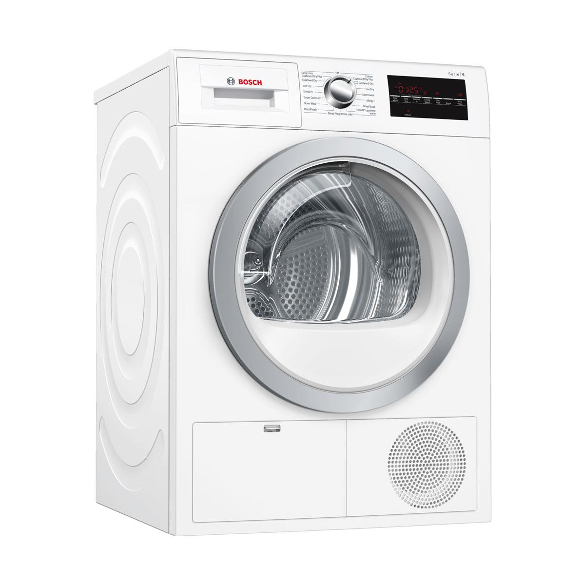 An image of Bosch WTG86402GB 8kg Condenser Tumble Dryer - B - White