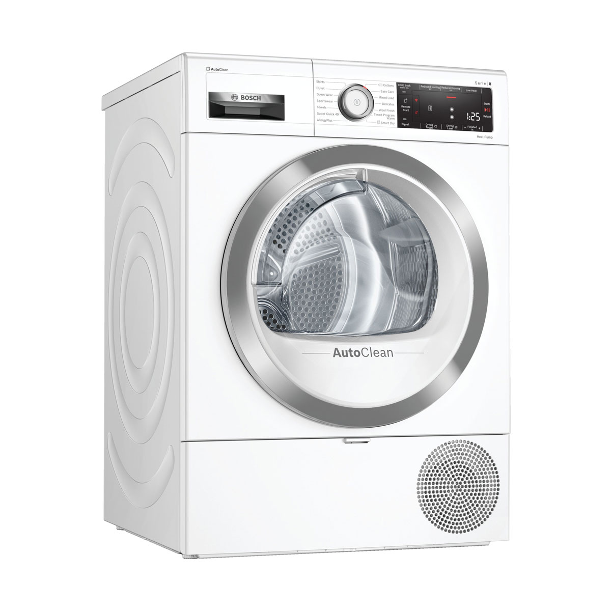 An image of WTX88RH9GB Wifi Connected 9Kg Heat Pump Tumble Dryer